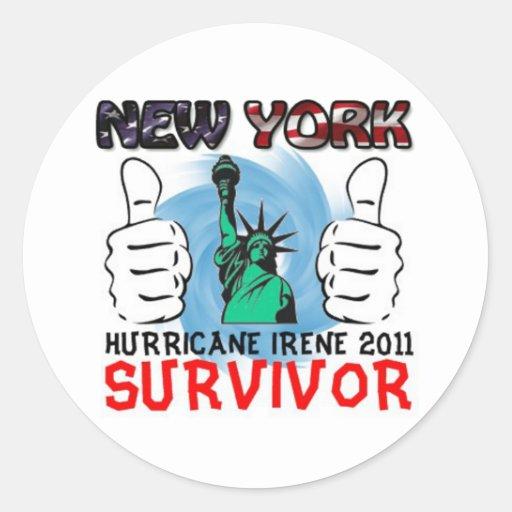 NY Hurricane Irene 2011 Survivor Round Sticker