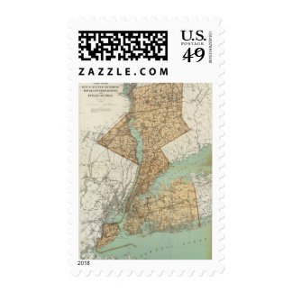 NY, Kings, Queens, Richmond, Rockland Postage Stamp
