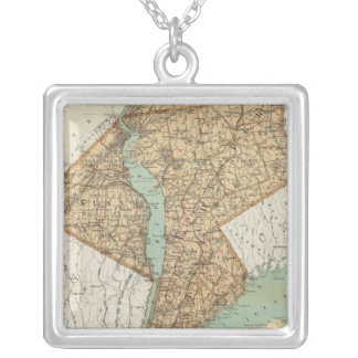NY, Kings, Queens, Richmond, Rockland Silver Plated Necklace