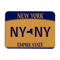NY License Plate Magnet