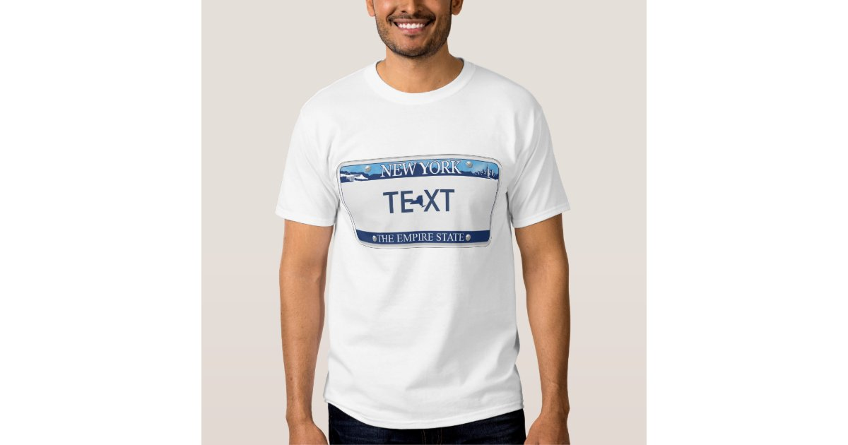 Ny license plate t shirt zazzle for T shirt licensing agreement