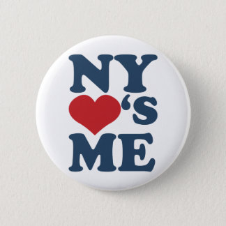 NY Loves Me Button