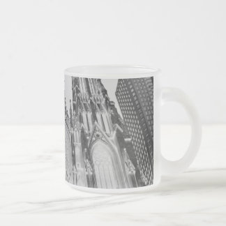 NY 10 OZ FROSTED GLASS COFFEE MUG