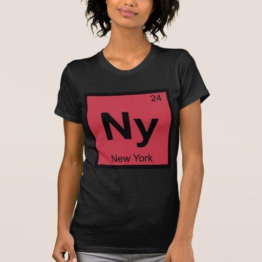 Ny - New York Chemistry Periodic Table Symbol City T-shirts