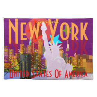 NY New York City Statue of Liberty USA Placemat Cloth Placemat