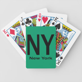NY New York plain black Bicycle Playing Cards