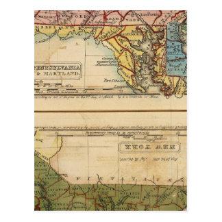 NY, NJ, PA, Del, Md Tarjetas Postales