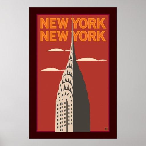 NY, NY 3-Poster Póster