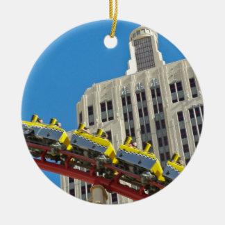 NY NY Casino Roller Coaster Ornament