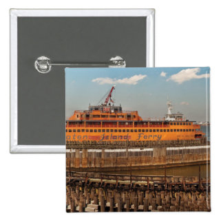 NY, NY - el transbordador de Staten Island Pin