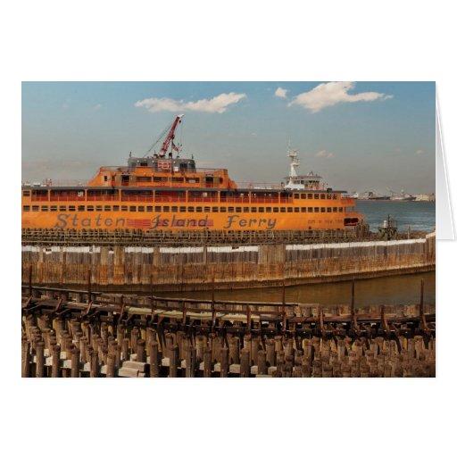 NY, NY - The Staten Island Ferry Greeting Card