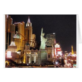 NY, NY - Vegas Greeting Card