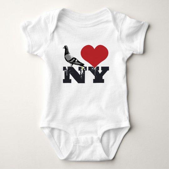 NY Pigeon Baby Bodysuit