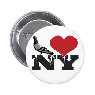 NY Pigeon Pinback Button