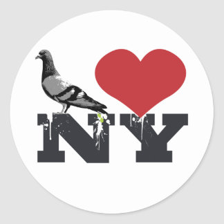 NY Pigeon Classic Round Sticker