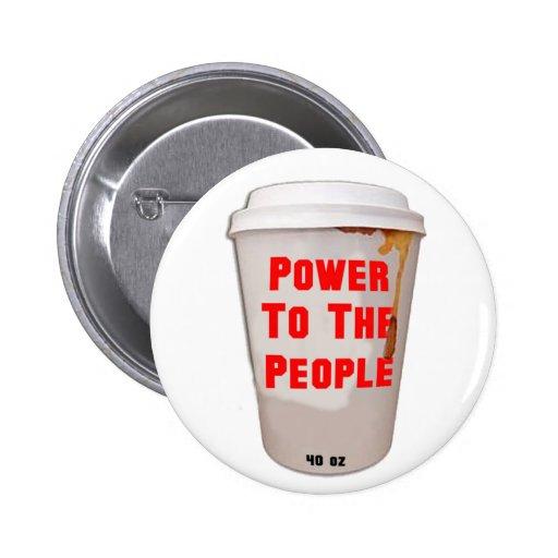 NY: Poder a la gente Pins