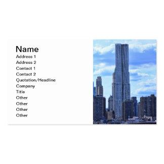 NY por el St de Gehry/8 piceas del East River A1 Tarjetas De Visita