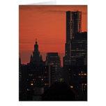 NY por Gehry, edificio municipal en el crepúsculo Tarjeta