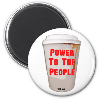 NY: Power to the People 2 Inch Round Magnet