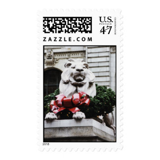 NY Public Library lion Postage