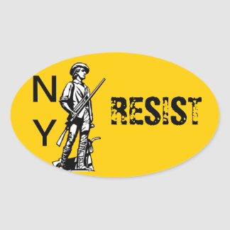 NY RESIST OVAL STICKERS