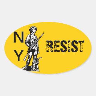 NY RESIST OVAL STICKER