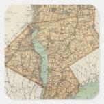NY, reyes, Queens, Richmond, Rockland Pegatina Cuadrada