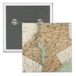 NY, reyes, Queens, Richmond, Rockland Pin Cuadrado