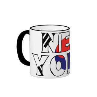 NY - SK RINGER COFFEE MUG