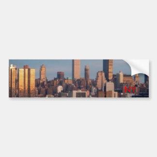 ny_skyline, NY Pegatina Para Auto