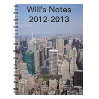 NY skyscraper view for school year notebook