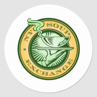 NY Soup Exchange Round Stickers