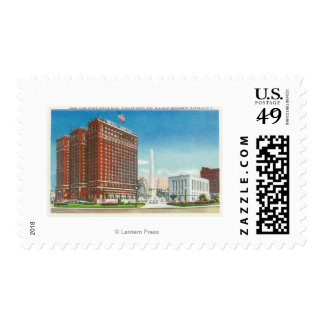 NY State Office, Statler Hotel Postage Stamp