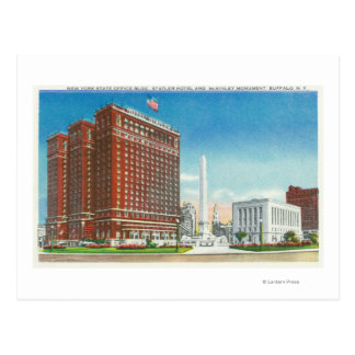NY State Office, Statler Hotel Postcard