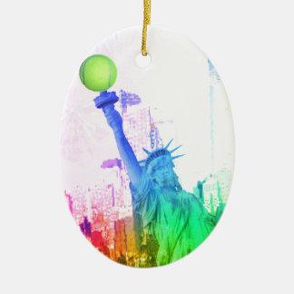 NY Statue of Liberty Ceramic Ornament