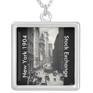 NY Stock Exchange 1904 Square Pendant Necklace