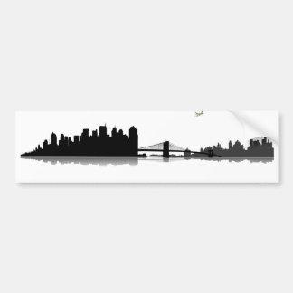 NY town center of skyline Bumper Sticker
