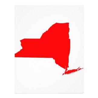 NY un estado rojo Membrete Personalizado