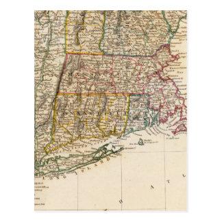 NY, Vt, Maine, NH, Mass, Conn, RI, NJ Postcard