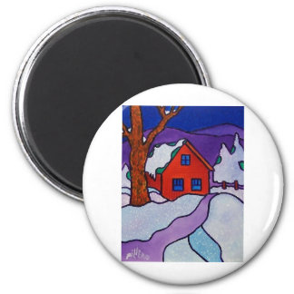 NY Winter by Piliero 2 Inch Round Magnet