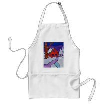 NY Winter by Piliero Adult Apron