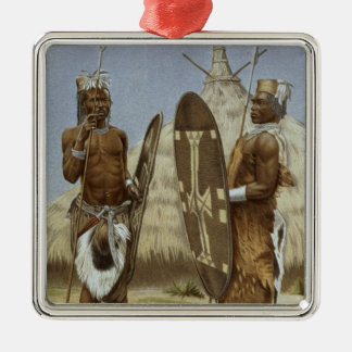 Nyam-nyam warriors from The History of Mankind Christmas Ornament