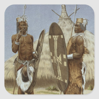 Nyam-nyam warriors from The History of Mankind Square Sticker