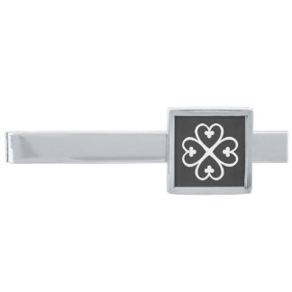 Nyame Dua | God's presence and protection Silver Finish Tie Clip