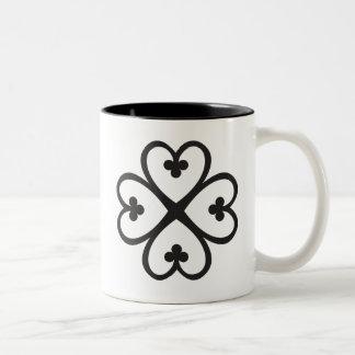 Nyame Dua   God's presence and protection Two-Tone Coffee Mug