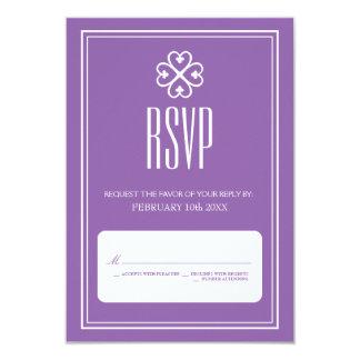 Nyame Dua Lavender Wedding RSVP Card