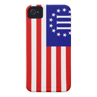 Nyberg bandera del tres por ciento iPhone 4 Case-Mate carcasa