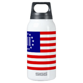 Nyberg Three Percent Flag Insulated Water Bottle