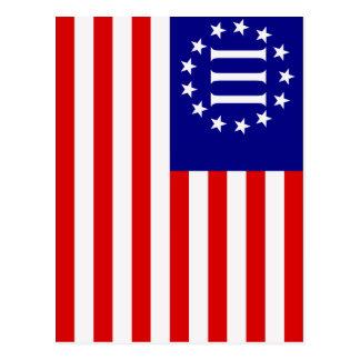 Nyberg Three Percent Flag Postcard
