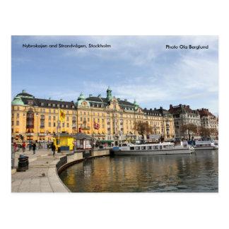 Nybrokajen y Strandvägen, acción… Tarjeta Postal